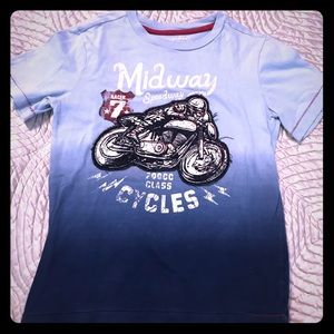 Motorcycle tee red white and blue Sonoma 7x